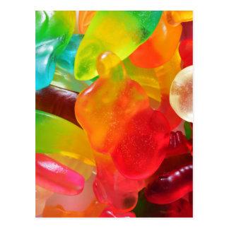 Cartão Postal textura colorida da goma da geléia