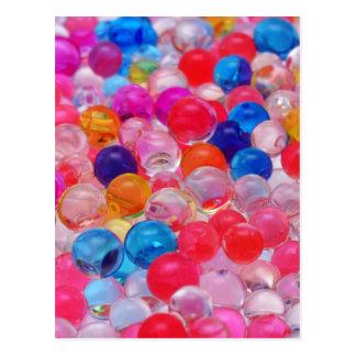 Cartão Postal textura colorida das bolas da geléia