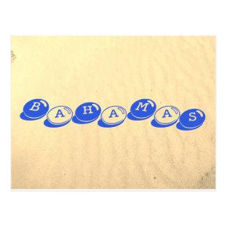Cartão Postal Textura da areia de Bahamas