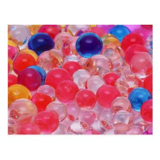 Cartão Postal textura das bolas da água