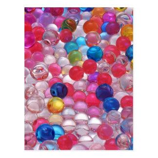 Cartão Postal textura das bolas da geléia do colore