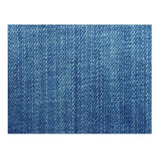 Cartão Postal Textura de calças de ganga