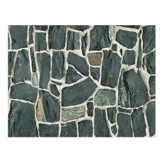 Cartão Postal Textura irregular da parede de pedras