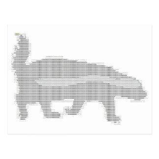 Cartão Postal texugo de mel ASCII