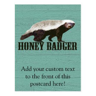 Cartão Postal Texugo de mel rústico legal