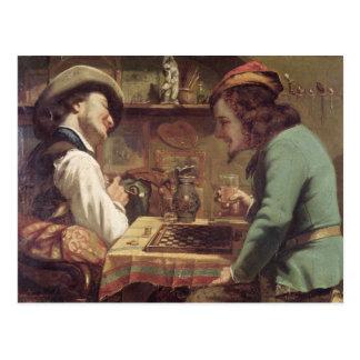 Cartão Postal The Game dos esboços, 1844