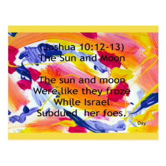 Cartão Postal The Sun e lua