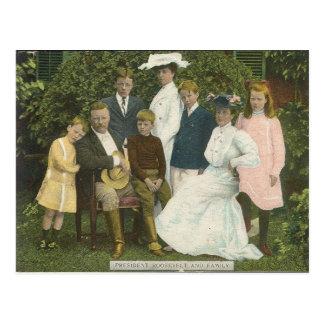 Cartão Postal Theo. Roosevelt e família