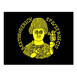 Cartão Postal Theoderic o excelente, rei de Visigoth