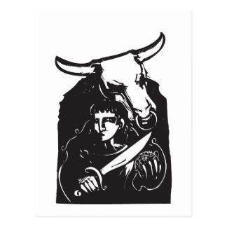 Cartão Postal Theseus e o Minotaur