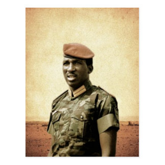 Cartão Postal Thomas Sankara - Burkina Faso - presidente