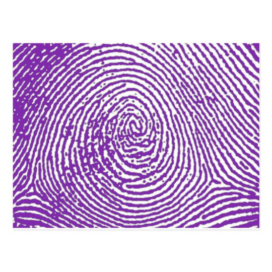 Cartão Postal thumbprint  IMPRESSÃO DIGITAL
