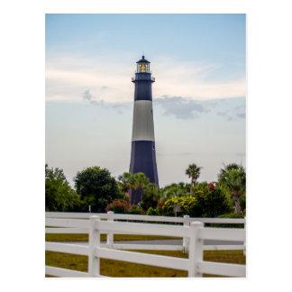 Cartão Postal thund de North Carolina do farol da praia da ilha