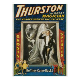 Cartão Postal Thurston a grande propaganda do vintage do mágico