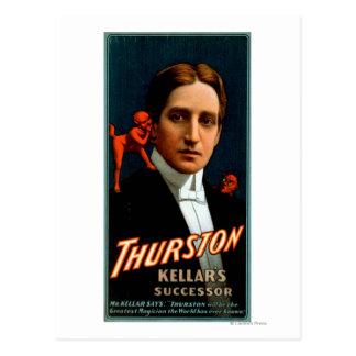 Cartão Postal Thurston, diabo que diz lhe a mágica dos segredos