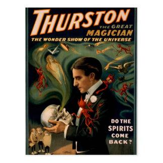 """Cartão Postal Thurston, """"faz os espírito volta?"""" Thea retro"""