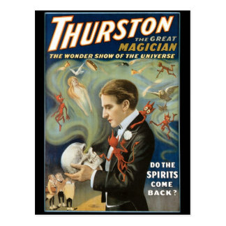 Cartão Postal Thurston o ato mágico do grande vintage do ~ do