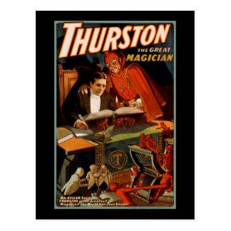 Cartão Postal Thurston o grande mágico