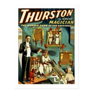 Cartão Postal Thurston o mágico - a mostra da maravilha