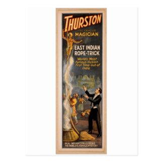 """Cartão Postal Thurston, """"truque indiano oriental"""" Thea retro da"""