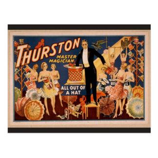 """Cartão Postal Thurston, """"tudo fora teatro retro de um chapéu"""""""