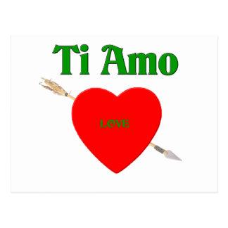 Cartão Postal Ti Amo (eu te amo)