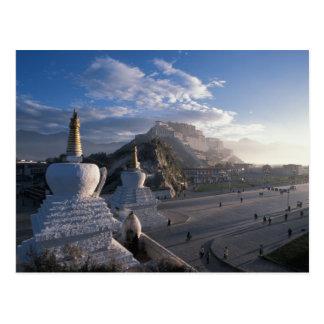Cartão Postal Tibet - Lhasa. Potala no nascer do sol