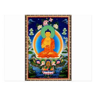 Cartão Postal Tibetano Thangka Prabhutaratna Buddha