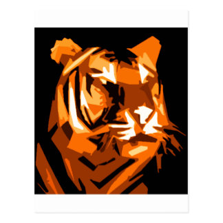 Cartão Postal Tigre alaranjado