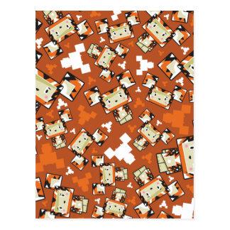 Cartão Postal Tigre bonito de Blockimals dos desenhos animados
