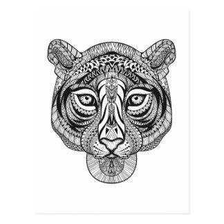 Cartão Postal Tigre do estilo