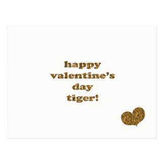 Cartão Postal Tigre do feliz dia dos namorados! Impressão