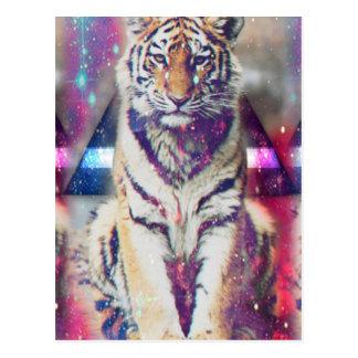 Cartão Postal Tigre do hipster - arte do tigre - tigre do