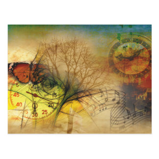 Cartão Postal Time and music