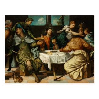 Cartão Postal Tintoretto - a ceia em Emmaus