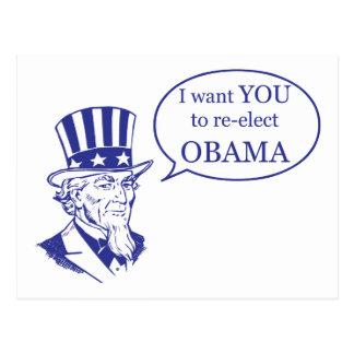 Cartão Postal Tio Sam - Obama