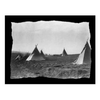 Cartão Postal Tipis de Apache do nativo americano do vintage