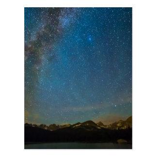 Cartão Postal Tipo da Via Láctea de Colorado da noite