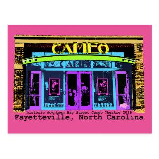 Cartão Postal tipo histórico do preto do cameo de Fayetteville