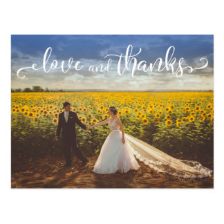 Cartão Postal Tipo subtil, elegante amor do casamento e