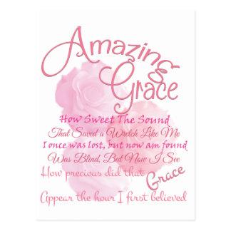 Cartão Postal Tipografia bonita do rosa do rosa da benevolência