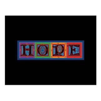 Cartão Postal Tipografia da palavra da esperança
