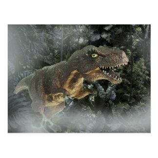 Cartão Postal Tiranossauro Rex na selva