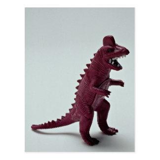 Cartão Postal Tiranossauro roxo Rex
