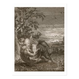 Cartão Postal Tithonus, o marido da Aurora, transformou em um