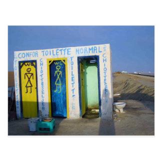 Cartão Postal Toalete da borda da estrada em Tunísia