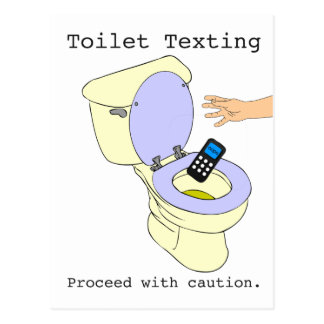 Cartão Postal Toalete Texting