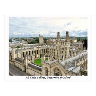 Cartão Postal Todas as almas faculdade, universidade de Oxford,