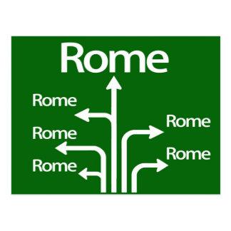 Cartão Postal Todas as estradas conduzem a Roma