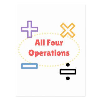 Cartão Postal Todas as quatro operações